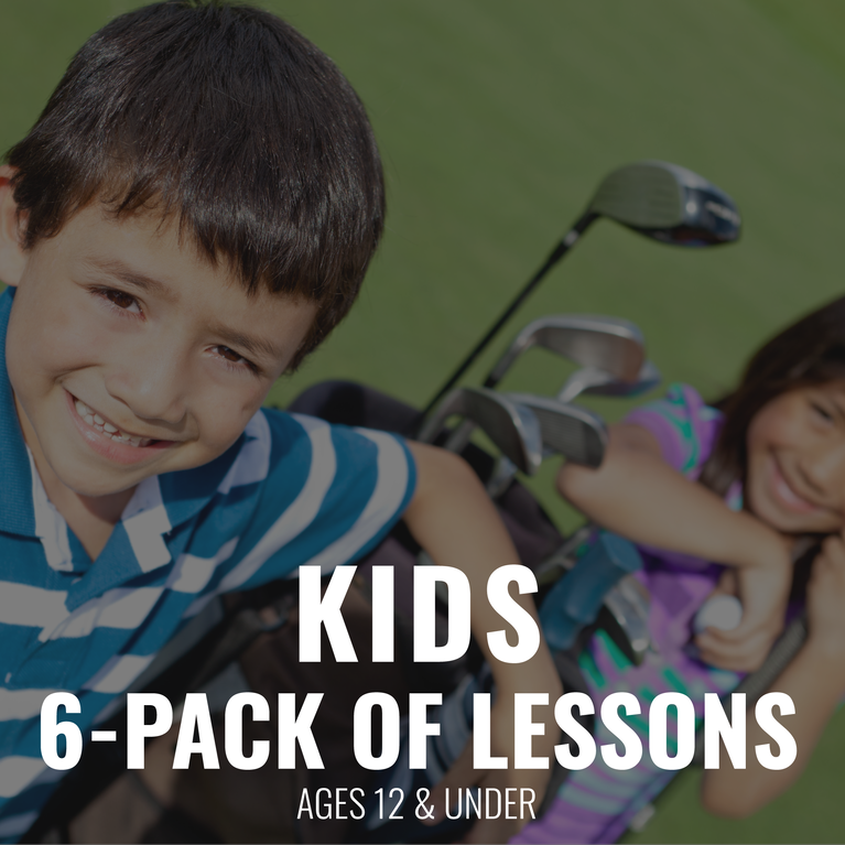 Kids 6 pack of Lessons 12 & under Gift Certificate