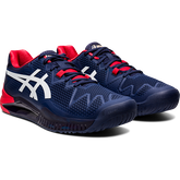 Alternate View 3 of GEL RESOLUTION 8 Men's Tennis Shoes - Navy/Red