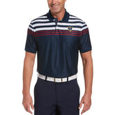 EcoFocused Chest Stripe Short Sleeve Golf Polo Shirt