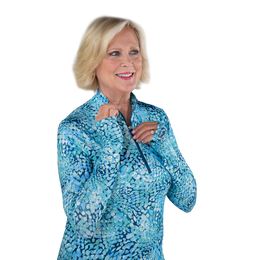 Hot Toddy Collection: Mosaic Print UPF Quarter Zip Pull Over