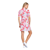 Alternate View 2 of Fun in the Sun Collection: Zaya Painted Petals Elbow Sleeve Dress