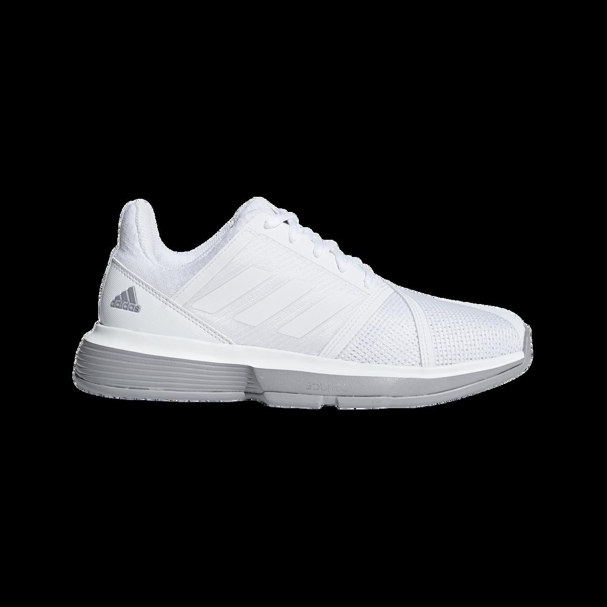 f5cd4195153da adidas CourtJam Bounce Women s Tennis Shoe - White Grey