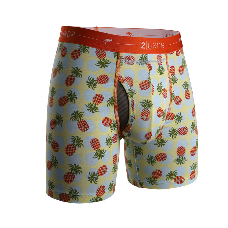 """2UNDR Day Shift 6"""" Boxer Brief - Pineapple Paradise"""