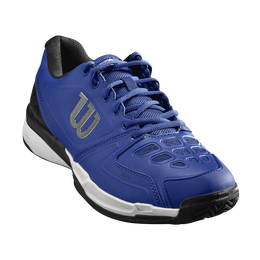 Wilson Rush Comp Men's Tennis Shoe - Blue/White