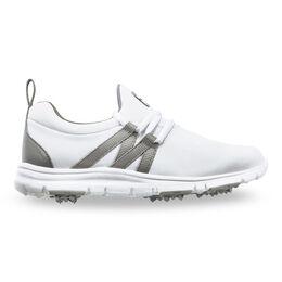 Leisure Junior Girls Golf Shoe - White/Grey