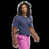 Alternate View 1 of Mesh Broken-Stripe Polo Shirt