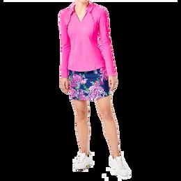Martina Long Sleeve Ruffled Polo Shirt