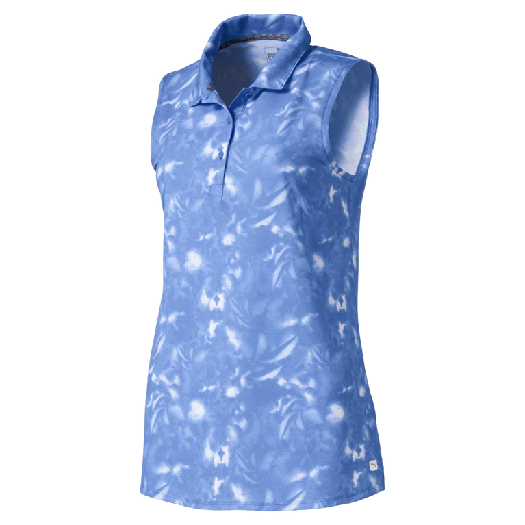 Flower Sleeveless Golf Polo