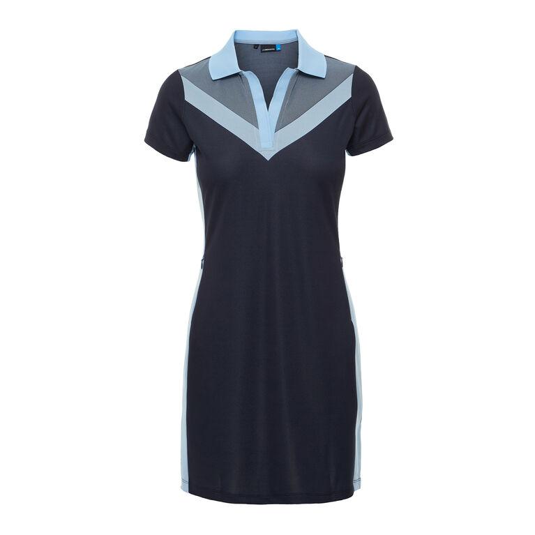Short Sleeve Lana Color Block Dress Front
