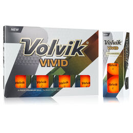 Volvik VIVID Golf Balls - Orange