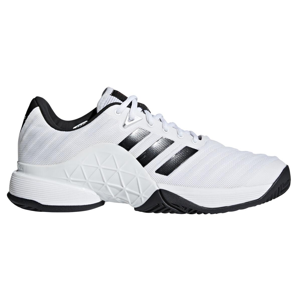36efd155771 adidas Barricade 2018 Men's Tennis Shoes - White/Black Zoom Image