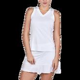 Sleeveless V-Neck Tennis Tank Top