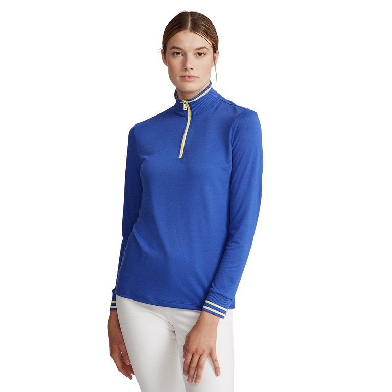 Performance Golf Long Sleeve Tipped Quarter-Zip Pull Over
