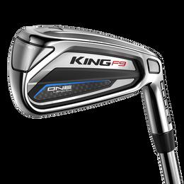 King F9 Silver/Black 5-PW, GW One Length Iron Set w/ Steel Shafts