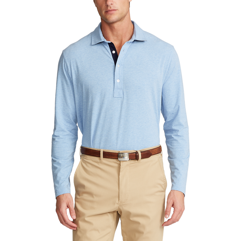Classic Fit Stretch Lisle Polo Shirt
