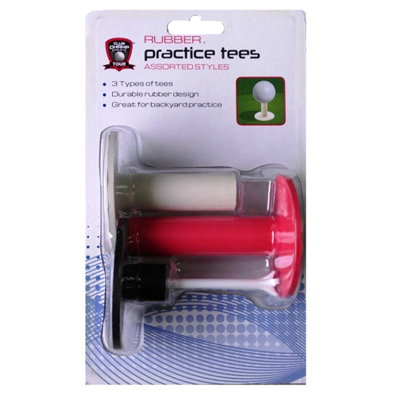 Golf Gifts & Gallery Rubber Practice Tees - 3 Pack