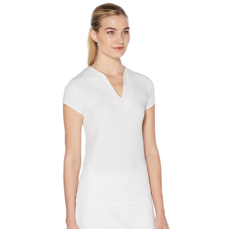 Grand Slam Cap Sleeve Knit Shirt