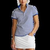 Alternate View 2 of Short Sleeve Striped Piqué Polo Shirt