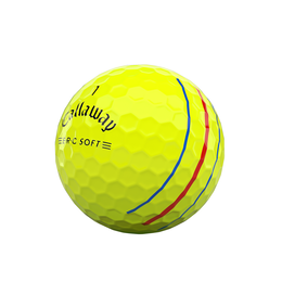 ERC Soft Triple Track Yellow Golf Balls - Personalized