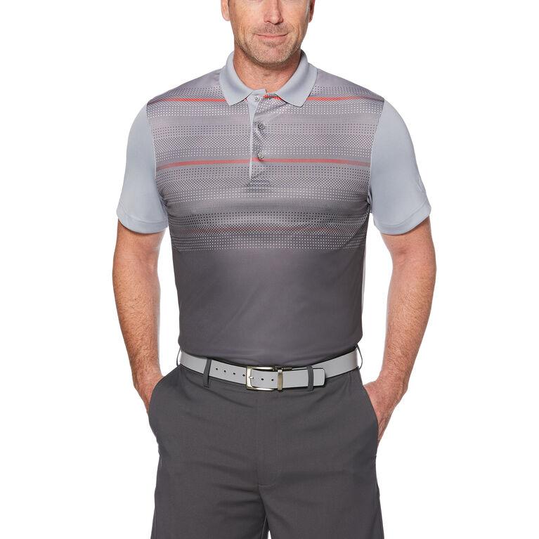PGA TOUR Gradient Jacquard Print Polo