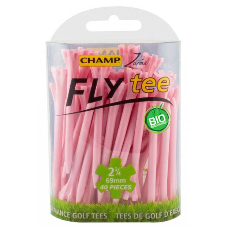 Champ FLY tee 2 3/4 Inch Golf Tees - Pink 30 Pack