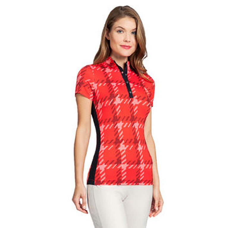 360 by Tail Houndstooth Check Short Sleeve Top