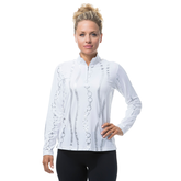 Bling Print Long Sleeve Quarter Zip Pull Over