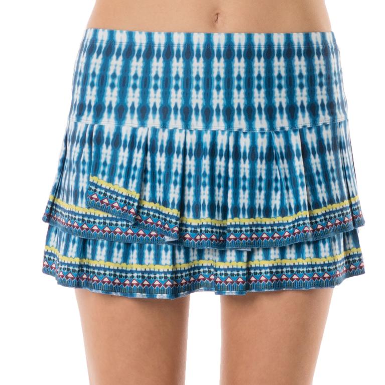 Lucky in Love Boho Sense Pleat Tier Skirt