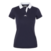 Alternate View 4 of Short Sleeve Contrast Collar Tech Polo