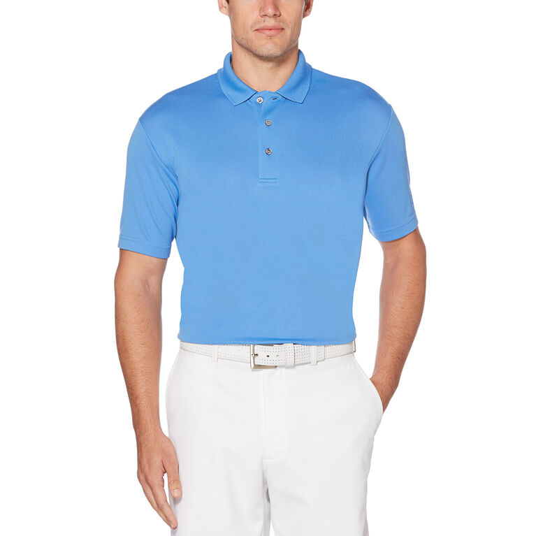 PGA TOUR Airflux Solid Mesh Short Sleeve Polo