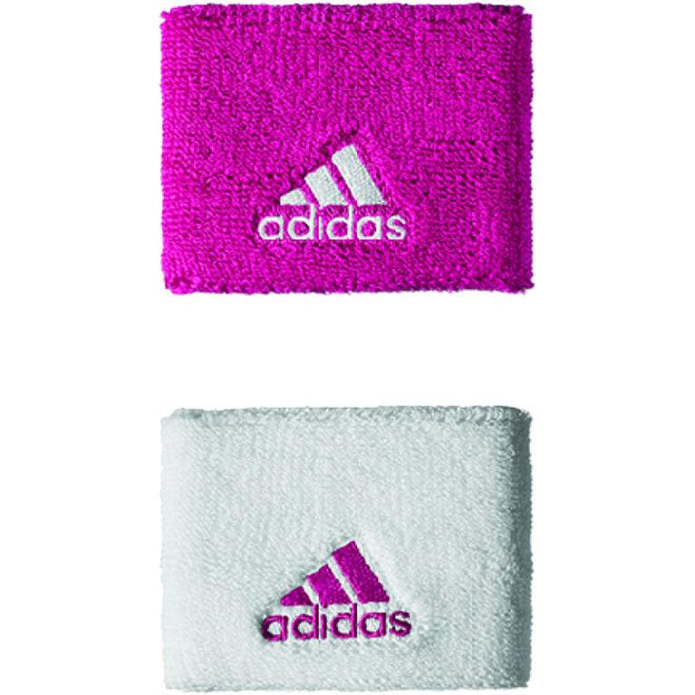 adidas Wristband - White/Bold Pink