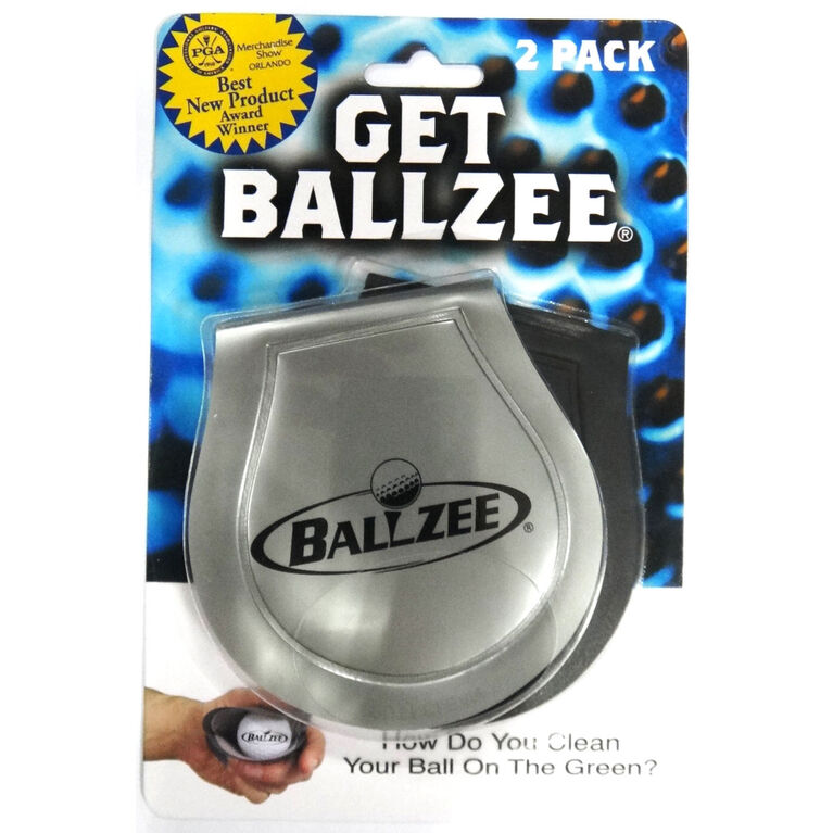 Ballzee Golf Ball Cleaner - 2-Pack