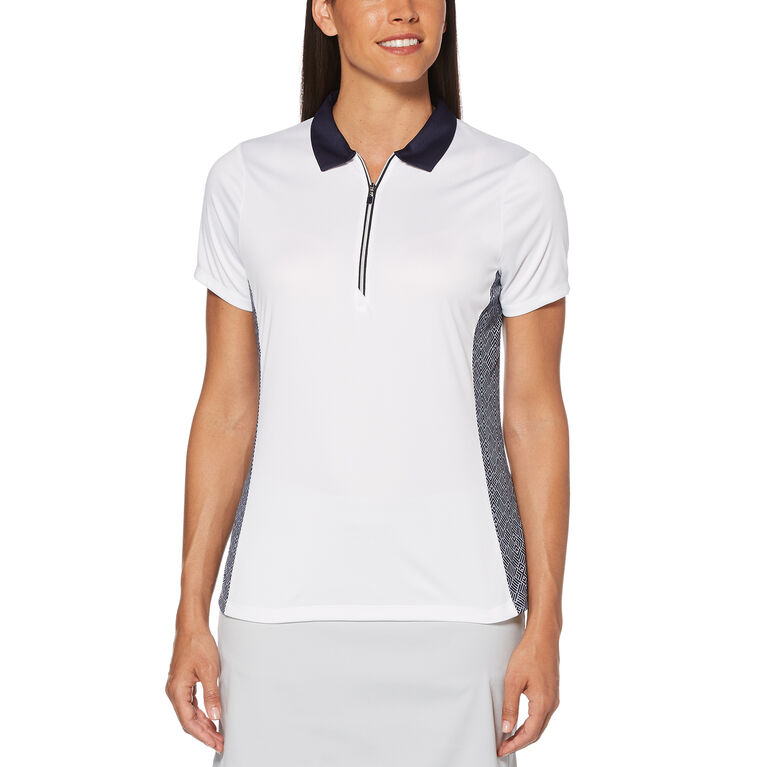 PGA TOUR Two Tone Tile Print Polo