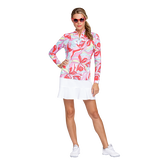 Alternate View 3 of Fun the Sun Collection: Petals Print Quarter Zip Pull Over