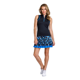 Pacific Vista Collection: Louisa Sleeveless Piped Zip Top