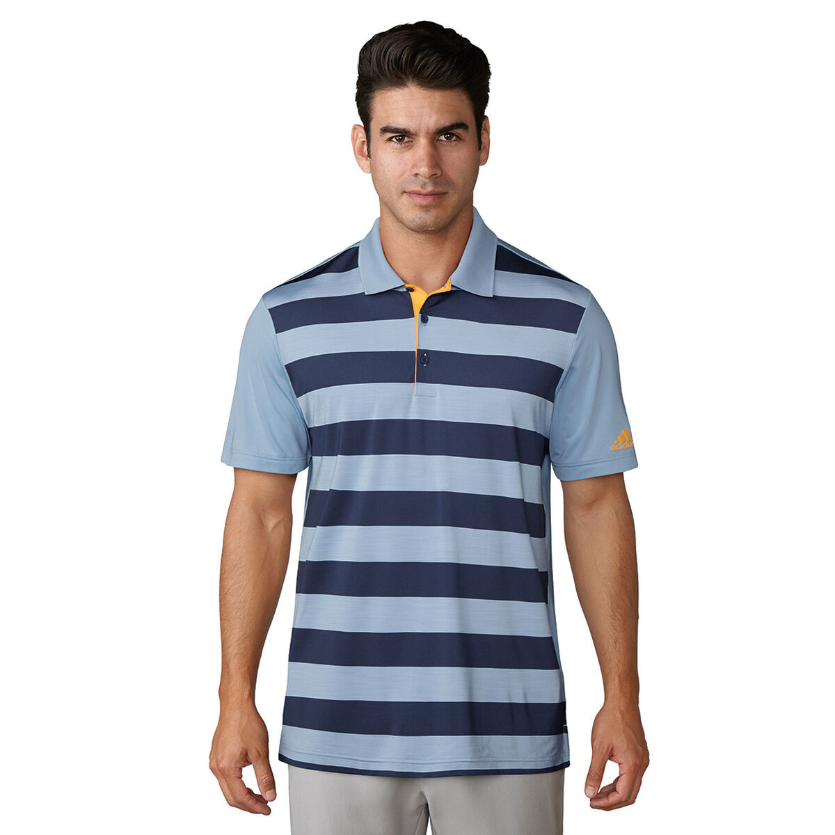 a85e5f2693a adidas Ultimate 365 Rugby Stripe Polo | PGA TOUR Superstore