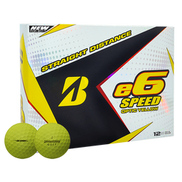 Bridgestone e6 Speed Golf Balls - Yellow
