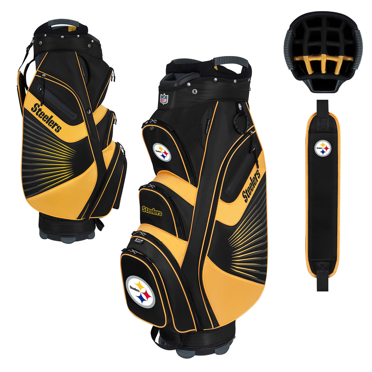 63ede665 NFL Pittsburgh Steelers Bucket II Cooler Cart Bag