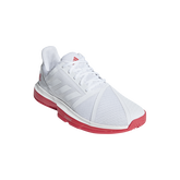 adidas CourtJam Bounce Men's Tennis Shoe - White/Red