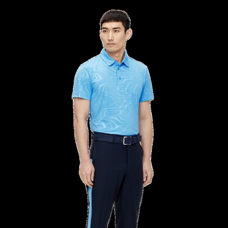 Tony Slim Fit Golf Polo Print