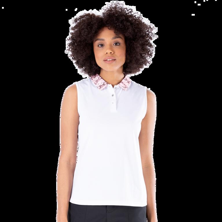 Dynamo Collection: Darcy Sleeveless Snake Print Collar Polo Shirt
