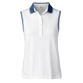 Red Dimension Collection: Juliette Sleeveless Contrast Trim Polo