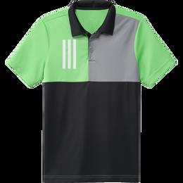 Boy's 3-Stripes Chest Primegreen Golf Polo Shirt