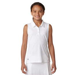 adidas Girls' Performance Sleeveless Polo