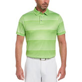 Faded Space Dye Striped Short Sleeve Golf Polo Shirt