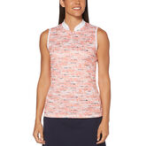 PGA TOUR Pebble Beach Print Sleeveless Shirt
