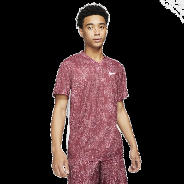 NikeCourt Dri-FIT Victory Men's Printed Short Sleeve Tennis Top