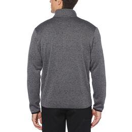 Heather Fleece Back 1/4-Zip Sweater with Binding