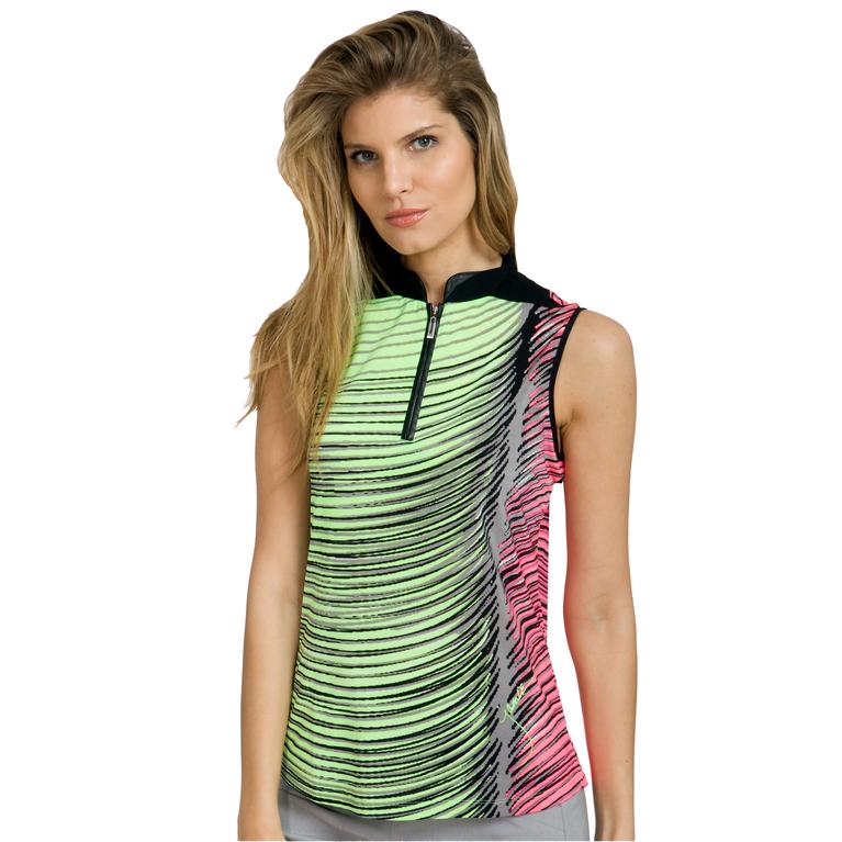 Super Nova Collection: Sleeveless Wave Print Top