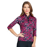 360 by Tail Floral Mesh 3/4 Sleeve Top